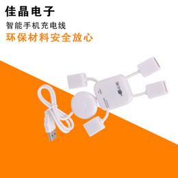 Wholesale USB splitter small humanoid extended four splitter one for four High Speed Geek Hub Splitter Adapter