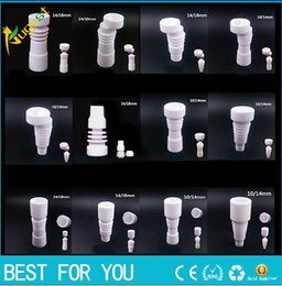 Wholesale High quality 14mm 18mm domeless Ceramic Nails Male & Female joint Ceramic carb cap ceramic nail VS titanium nail Quartz nail