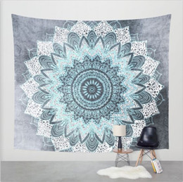 Wholesale Wall Decorative Hanging Tapestries Indian Mandala Style Bedspread Ethnic Throw Art floral Towel Beach Meditation Yoga Mat