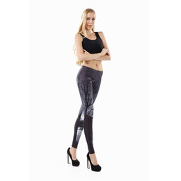 New Arrival Printed Women leggings Gray sky leggins for woman