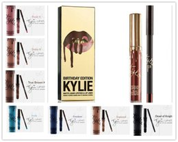 Wholesale New American Kylie Matte Lipstick Colors Fashion Metallic Gloss Girls Lip Kit Sexy Kylie Matte Lipstick For Women