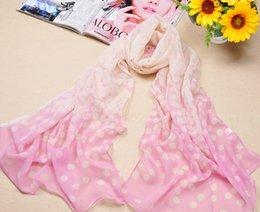 Wholesale New High density Gradint Dot Print Scarf quality Chiffon scarves For Women Beach Use Free DHL HJ009