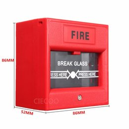 Wholesale Single Pole Emergency Switch Exit Button Door Release Glass Break Alarm Button For Access Control System