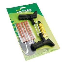 Wholesale 8Pcs set of Tools for Car Repair Equipment Tubeless Tire Repair Kit Tyre Puncture Plug Motorcycle Car Bike Auto