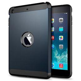 For Apple iPad Mini 1 2 Retina Elegant Cover Hard Hybrid Armor Soft TPC + PC Slim With Original Logo Case For ipad mini1 mini2