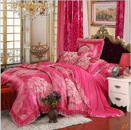 comfort tencel jacquard European style home textile with lace edge