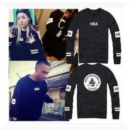 Wholesale HBA Factory price street fashion sweatshirts punk rock hiphop pullover HOOD BY AIR RADIOACTIVE CLASSICS O Neck hoodies