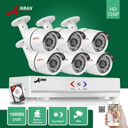 Wholesale ANRAN CH HD N HDMI AHD DVR Megapixel CCTV Home Security Camera System With TB HDD