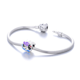 Wholesale GW Halloween Witch Charms beads made from sterling silver fit pandora style bracelets for women jewelry wholesalers No70 lw D099