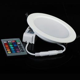 New arrive High Power Epistar 5W 10W RGB LED Panel Light Round Shape With Remote Control Downlight Led ceiling down AC85-265V + Driver