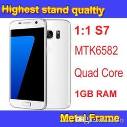 Wholesale Goophone S7 Metal GB RAM G Network Quad Core MTK6582 Rear Camera MP Phone Show G Network GB ROM Android