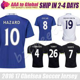 Wholesale Chelsea Soccer Jersey Home blue HAZARD FABREGAS PEDRO TERRY Chelsea football shirt