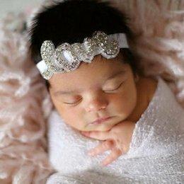 Wholesale New Infant Baby Girls Love Diamond Headbands Toddler Princess Stretchy Headwear Babies Children s hair accessories