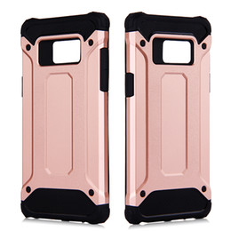 Wholesale for Galaxy Note S7 Plus Edge S6 Edge Apple iPhone S Plus Shockproof Phone Cases Back Cover Sturdy Colors