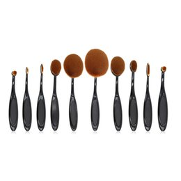 Wholesale 10 pieces set toothbrush makeup brush makeup brushes set multi function makeup brush sets colors for choose