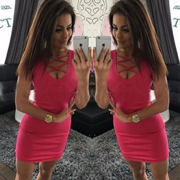 Wholesale 2016 Best Sellers Summer Sleeveless Chest bandage sexSlim Nightclub Dress Package hip Nightclub Dress Dress one piece Big yards party dress