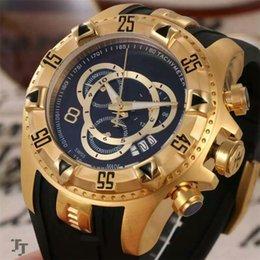 Wholesale aaa IINVICTA Pro Diver Chronograph Black Dial Black Rubber Men s Watch