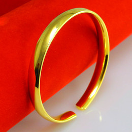 For a long time does not fade like a gold bracelet and 999 gold bracelet Jewelry Wedding Jewelry pure smooth simple and elegant