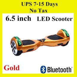 "Bluetooth Speaker Music LED Scooter Hoverboard Smart Mini Balance Wheel Electric 6.5 "" Two Wheels Balance Scooters Skateboard UPS Fast Ship"