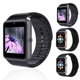 Wholesale 2016 Latest Version Multi language Smart Watch GT08 Clock Sync Notifier Bluetooth Connectivity iOS Android Phone Smartwatch PK DZ09 GV18