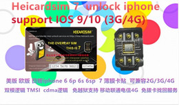 Wholesale Good news New heicard sim easy top unlock USA sprint ATT T M Japan DO AU SB carrier support ios wcdma G for i5c s s p sp i7
