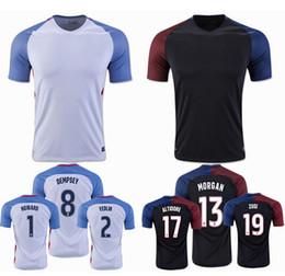 Wholesale Top quality United Status Home Soccer Jerseys Dempsey BRADLEY ALTIDORE MORGAN camiseta de futbol survetement football shirts
