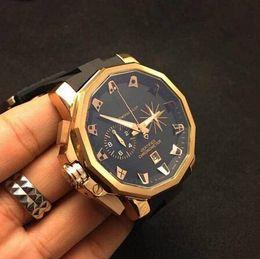 C-M 48mm sapphire watch Admirals CUP high quality men's watches quartz chronometer chronograph chrono wristwatch waterproof