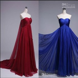 Wholesale Best Price Elegant Chiffon A Line Sweetheart Long Homecoming Dresses Sweep Train Sleeveless Light Prom Dresses Prom Gowns