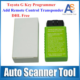 Wholesale DHL Free High Quality Toyota G and Toyota H Chip Vehicle OBD Remote Key Programmer Add Remote Control Transponder Switch ON OFF