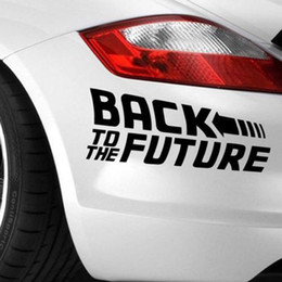 Cool Back To The Future Car Styling Sticker | Car Bumper Customize Decal Decor