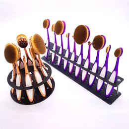Wholesale Newest set Toothbrush Makeup Brush brushes Set Artist Oval Brushes gold with silicon Blush Powder Contour Toothbrush Pro Makeup tools