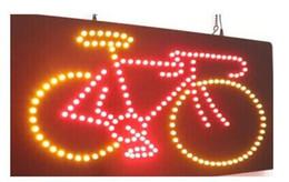 2017 bar business Vente directe personnalisée conduit néon signe ouvert 10 * 19 pouces intérieur Ultra Bright vélo vélo vélo business store néon signalisation lumineuse bar business sur la vente