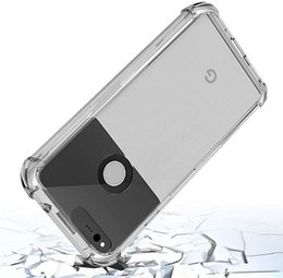 Four Angle Air Bag Transparent Clear Soft Cover Silicon Gel TPU Skin Case Silicon Cover For Google Pixel XL Pixel