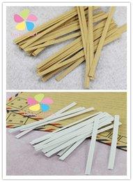 Wholesale 200pcs multi option Kraft Paper Twist Ties Packaging Rope Wire Belt Food Bread Gift Cookies Bakery Bags Seals Packing