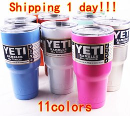 Wholesale YETI Mugs oz Cups Pink Blue Stainless Steel Yeti Rambler Tumbler Travel Vehicle Beer Mug Tumblerful Bilayer Vacuum Insulated