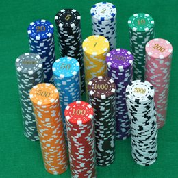 Wholesale New Poker Chips With Five Different Values ABS Material choose from Many colors