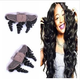 Indian Virgin Human Hair Loose Wave Silk Base 13x4 Ear to Ear Lace Frontal Closure Loose Wave Silk Base Full Frontal Lace Closure