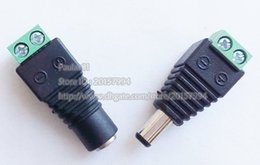 Wholesale Male Female x2 MM DC Power V V Jack Adapter Connector Male Plug For CCTV DC to Terminal PAIRS