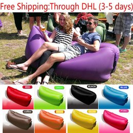 Wholesale Laybag Hangout Inflatable Air sleeping bag hangout inflatable sleep bag Nylon Inflating Air sofa Outdoor Convenient Inflatable Lounger