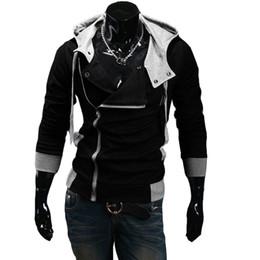 Wholesale Lace Feather Sash - 2016 Man's warm Hoodies Sweatshirt Oblique zipper hoodie 6 colors cotton Hoody jacket plus size M-6XL slim sports hoodies men