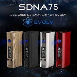 La electrónica de apv en venta-Cigarrillo electrónico de Vape Mod SMY sDNA 75 Mod Box SMOK APV Pro atomizador cigarrillo electrónico Kalem Hokkah electrónica cachimba tanque X9069