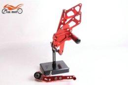 Wholesale KELI FUXING Racing CNC Adjustable Rear set Footpegs For Suzuki GSXR GSXR1000 GSX1000R Red
