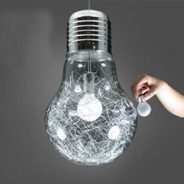 150mm*250mm Brief personalized big bulb pendant light metal single-head glass bar counter aisle lights Pendant Lamps