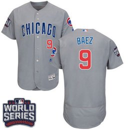 Men's Chicago Cubs #9 Javier Baez 2016 World Series Bound Flexbase Authentic Collection Jersey