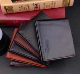 Crédit rapide en Ligne-DHL LIVRAISON RAPIDE GRATUIT Nouveaux PU Hommes Vintage Portefeuilles Beaux Bifold Brown Black PU carte de crédit en cuir tri cool Fold Wallet