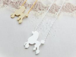 Wholesale Hot sale hippie chic poodle pendant drop necklace Bohemian fashion women Neclaces ms thin necklace