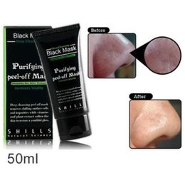 Wholesale 500pcs Best Selling SHILLS Deep Cleansing purifying peel off Black mud face mask Remove blackhead face mask ml