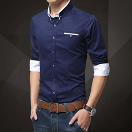 Mens Shirts Casual Men's Dress Shirts Mens Slim Fit Unique Neckline Stylish Long Sleeve Shirts