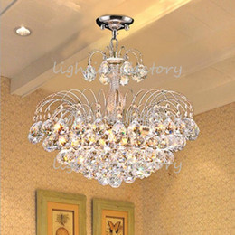 E14 Crystal Chandelier Modern 2Color Bedroom hotel Living Room Ceiling Lights Fixture Crystal Lighting