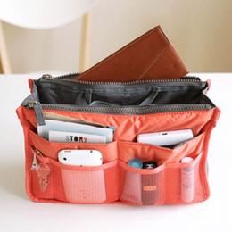 Portable Lady Travel Dual Insert Handbag Makeup CosmeticPurse Organizer Tidy Bag